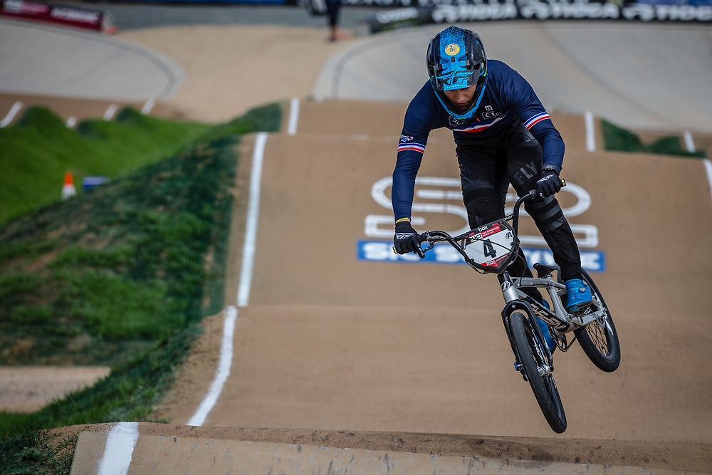 #4 (RENCUREL Jeremy) FRA at Round 2 of the 2020 UCI BMX Supercross World Cup in Shepparton, Australia.