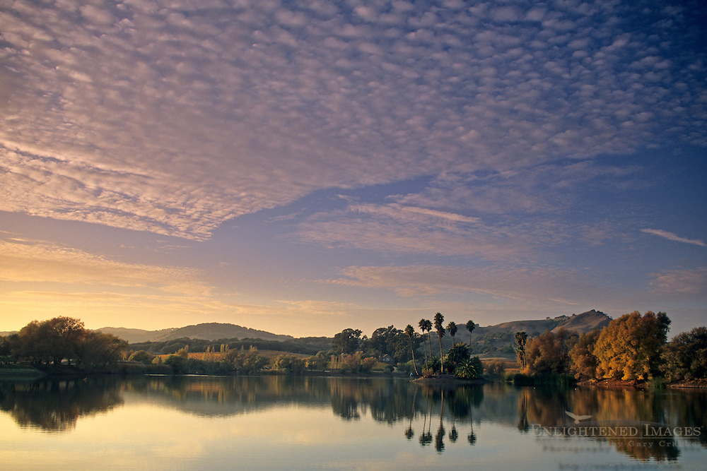 Clouds at sunset, Vin di Rosa Preserve, Carneros Region, Napa County, California