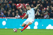 England Midfielder Jordan Henderson during the FIFA World Cup Qualifier group stage match between England and Scotland at Wembley Stadium, London, England on 11 November 2016. Photo by Phil Duncan.