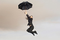 Falling Woman with Umbrella