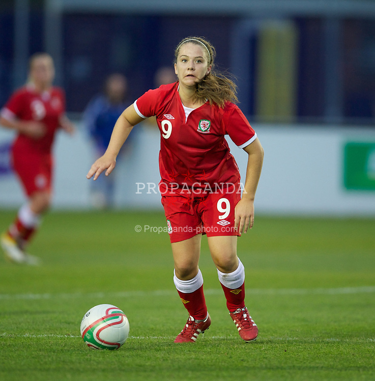 BROUGHTON, WALES - Friday, September 9, 2011: Wales' Emma Beynon (Llangyfelach) in action against Denmark during an international friendly women's Under-17 match at the Airfield. (Pic by David Rawcliffe/Propaganda)