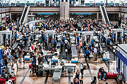 TSA security check, Denver airport, Colorado, USA