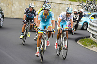 Mikel Landa Meana / Fabio Aru - Astana - 30.05.2015 - Tour d'Italie - Etape 20 : Saint Vincent / Sestriere<br />Photo : Sirotti / Icon Sport