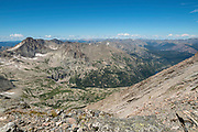View from The Ledges, after a successful summit of Longs Peak, Rocky Mountain National Park, Colorado.