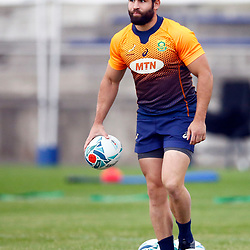 TOKYO, JAPAN - OCTOBER 15: Cobus Reinach during the South African national rugby team training session at Fuchu Asahi Football Park on October 15, 2019 in Tokyo, Japan. (Photo by Steve Haag/Gallo Images)