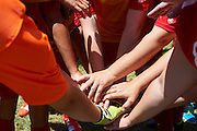 SO Poland athletes while halftime football women match 7-a-side during fourth day of the Special Olympics World Games Los Angeles 2015 on July 28, 2015 at Balboa Sports Centre in Los Angeles, USA.<br /> USA, Los Angeles, July 28, 2015<br /> <br /> Picture also available in RAW (NEF) or TIFF format on special request.<br /> <br /> For editorial use only. Any commercial or promotional use requires permission.<br /> <br /> Adam Nurkiewicz declares that he has no rights to the image of people at the photographs of his authorship.<br /> <br /> Mandatory credit:<br /> Photo by &copy; Adam Nurkiewicz / Mediasport