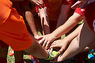 SO Poland athletes while halftime football women match 7-a-side during fourth day of the Special Olympics World Games Los Angeles 2015 on July 28, 2015 at Balboa Sports Centre in Los Angeles, USA.<br /> USA, Los Angeles, July 28, 2015<br /> <br /> Picture also available in RAW (NEF) or TIFF format on special request.<br /> <br /> For editorial use only. Any commercial or promotional use requires permission.<br /> <br /> Adam Nurkiewicz declares that he has no rights to the image of people at the photographs of his authorship.<br /> <br /> Mandatory credit:<br /> Photo by © Adam Nurkiewicz / Mediasport