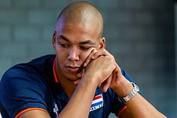 06-09-2018 NED: Press conference Netherlands, Doetinchem<br /> Press conference before the first match against Argentina / Nimir Abdelaziz #14 of Netherlands.