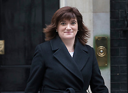 © Licensed to London News Pictures. 09/02/2016. London, UK.  Nicky Morgan, Secretary of State for Education and Minister for Women and Equalities, leaves number 10 Downing Street after attending a cabinet meeting. Photo credit: Peter Macdiarmid/LNP