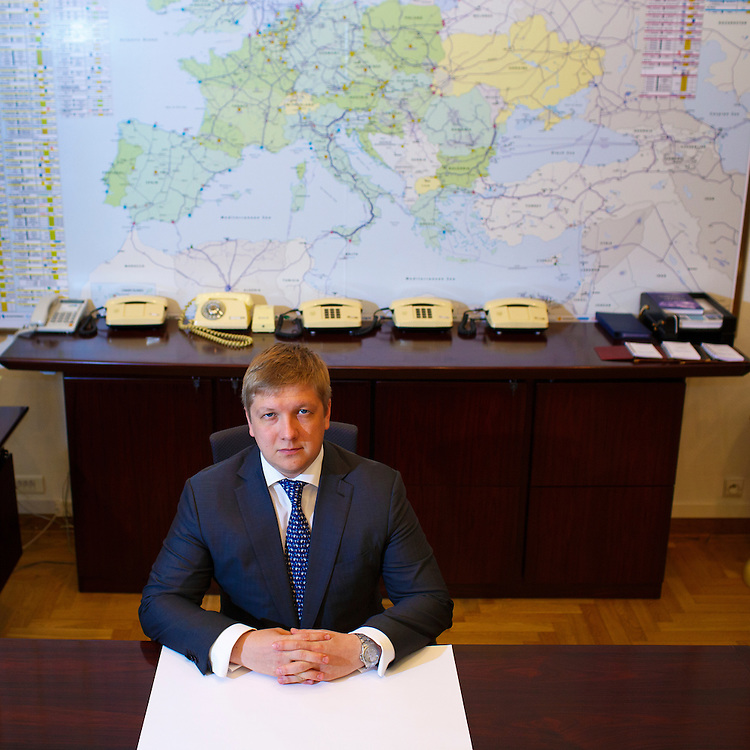 Andriy Kobolev, CEO and Chairman of Naftogaz, poses for a portrait in his office on May 31, 2015 in Kyiv, Ukraine.