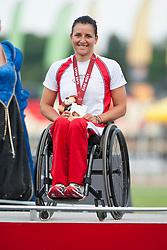 SCHAER Manuela, SUI, 5000m, T54, Podium, 2013 IPC Athletics World Championships, Lyon, France