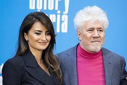 March 12, 2019 - Madrid, Spain - Spanish actress Penelope Cruz, Spanish film director Pedro Almodovar  pose during the photocall of the film 'Dolor y Gloria' (Pain and Glory) in Madrid on March 12, 2019. (Credit Image: © Oscar Gonzalez/NurPhoto via ZUMA Press)