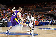 ST. LOUIS, MO - MARCH 26: Jake Koch #20 of the Northern Iowa Panthers kicks away a pass attempt by Draymond Green #23 of the Michigan State Spartans during the Midwest regional semi-final of the NCAA men's basketball tournament at the Edward Jones Dome on March 26, 2010 in St. Louis, Missouri. Michigan State advanced with a 59-52 win. (Photo by Joe Robbins)