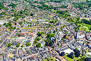 Nederland, Gelderland, Achterhoek, 29-05-2019; overzichtsfoto centrum  Winterswijk met onder andere Gemeentehuis, Jacobuskerk, winkelcentrum.<br /> Overview city centre Winterswijk.<br /> <br /> luchtfoto (toeslag op standard tarieven);<br /> aerial photo (additional fee required);<br /> copyright foto/photo Siebe Swart