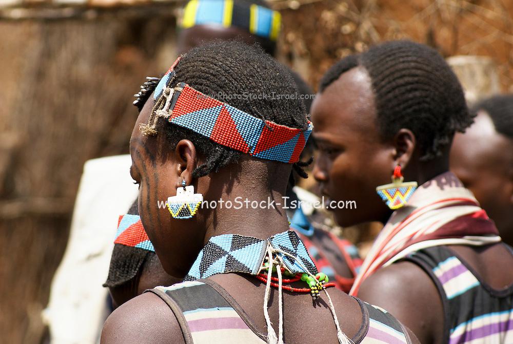 Africa, Ethiopia, Omo Valley, Banna tribe men
