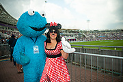 Favorites Cookie Monster and Minnie Mouse during the second day of the 4th SpecSavers International Test Match 2018 match between England and India at the Ageas Bowl, Southampton, United Kingdom on 31 August 2018.