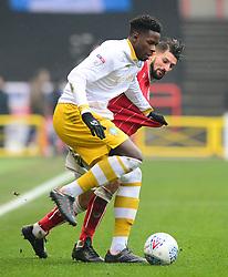 Eros Pisano of Bristol City closes down Lucas Joao of Sheffield Wednesday - Mandatory by-line: Dougie Allward/JMP - 03/03/2018 - FOOTBALL - Ashton Gate Stadium - Bristol, England - Bristol City v Sheffield Wednesday - Sky Bet Championship