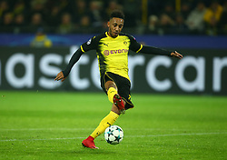 November 21, 2017 - Westfalenstadion, Germany - Pierre-Emerick Aubameyang of Borussia Dortmund.during UEFA Ch scores his sides first goal  ampion  League Group H Borussia Dortmund between Tottenham Hotspur played at Westfalenstadion, Dortmund, Germany 21 Nov 2017  (Credit Image: © Kieran Galvin/NurPhoto via ZUMA Press)