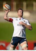 13 June 2013; Jamie Heaslip, British & Irish Lions, during forwards training ahead of their game against NSW Waratahs on Saturday. British & Irish Lions Tour 2013, Forwards Training, North Sydney Oval, Sydney, New South Wales, Australia. Picture credit: Stephen McCarthy / SPORTSFILE