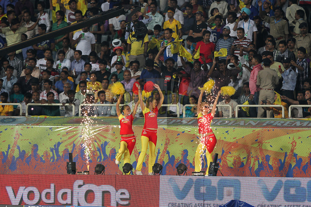 cheerleaders during match 21 of the Pepsi Indian Premier League Season 2014 between the Chennai Superkings and the Kolkata Knight Riders  held at the JSCA International Cricket Stadium, Ranch, India on the 2nd May  2014<br /> <br /> Photo by Deepak Malik / IPL / SPORTZPICS<br /> <br /> <br /> <br /> Image use subject to terms and conditions which can be found here:  http://sportzpics.photoshelter.com/gallery/Pepsi-IPL-Image-terms-and-conditions/G00004VW1IVJ.gB0/C0000TScjhBM6ikg