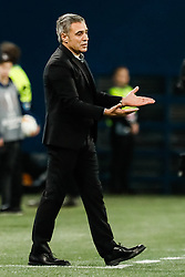 February 21, 2019 - Saint Petersburg, Russia - Fenerbahce SK head coach Ersun Yanal gestures during the UEFA Europa League Round of 32 second leg match between FC Zenit Saint Petersburg and Fenerbahce SK on February 21, 2019 at Saint Petersburg Stadium in Saint Petersburg, Russia. (Credit Image: © Mike Kireev/NurPhoto via ZUMA Press)