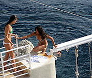 Michelle Rodriguez with girlfriend after jumping out of a cliff.Hotel Du Cap - 2007 Cannes Film Festival .Cap D'Antibes, France .Wednesday, May 24, 2007.Photo By Celebrityvibe; .To license this image please call (212) 410 5354 ; or.Email: celebrityvibe@gmail.com ;.