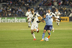 March 11, 2018 - New York, New York, United States - Ronald Matarrita (22) of NYC FC controls ball during regular MLS game against LA Galaxy at Yankee stadium NYC FC won 2 - 1 (Credit Image: © Lev Radin/Pacific Press via ZUMA Wire)