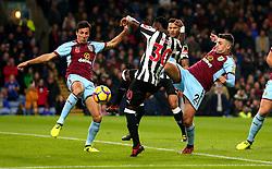 Christian Atsu of Newcastle United shoots at goal - Mandatory by-line: Robbie Stephenson/JMP - 30/10/2017 - FOOTBALL - Turf Moor - Burnley, England - Burnley v Newcastle United - Premier League