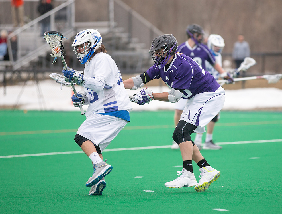Jeff Vaz of Colby College, during a NCAA Division III men's lacrosse game against at Amherst College on April 11, 2015 in Waterville, ME. (Dustin Satloff/Colby Athletics)
