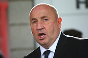 Accrington Stanley manager, John Coleman during the EFL Sky Bet League 2 match between Accrington Stanley and Coventry City at the Fraser Eagle Stadium, Accrington, England on 14 October 2017. Photo by John Potts.