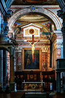 """God illuminates the crucifix - Cathedral of Sorrento""...<br />