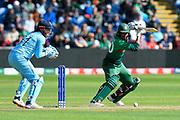 Mohammad Mahmudullah Riyad of Bangladesh batting during the ICC Cricket World Cup 2019 match between England and Bangladesh the Cardiff Wales Stadium at Sophia Gardens, Cardiff, Wales on 8 June 2019.