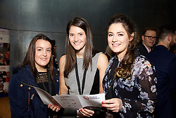 29/10/2015<br /> IAB Conference at the Guinness Storehouse.<br /> (l-r):<br /> Sarah Brazil (FBD);<br /> Clare Aughney (FBD) and <br /> Emily Pietrocola (Publicis).
