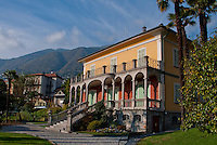 Villa San Quirico in Minusio,  Ticino, Southern Switzerland. An elegant 19th century building and park in a beautiful setting.