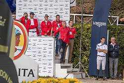 Kistler Andy, SUI, Chef d'Equipe, Guerdat Steve, SUI, Schnieper Barbara, SUI<br /> Longines FEI Jumping Nations Cup™ Final<br /> Barcelona 20128<br /> © Hippo Foto - Dirk Caremans<br /> 07/10/2018