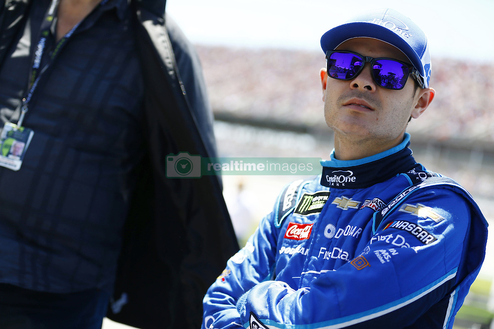 April 29, 2018 - Talladega, Alabama, United States of America - Kyle Larson (42) hangs out on pit road before racing in the GEICO 500 at Talladega Superspeedway in Talladega, Alabama. (Credit Image: © Chris Owens Asp Inc/ASP via ZUMA Wire)