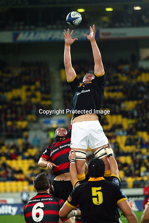 3 August 2004, Westpac Stadium, Wellington, <br /> New Zealand, Rugby Union, NPC Div 1<br /> Wellington Lions vs Canterbury<br /> Lion's Ross Kennedy during Wellington's 34-22 win over Canterbury on Friday night.<br /> Please Credit: Marty Melville/Photosport