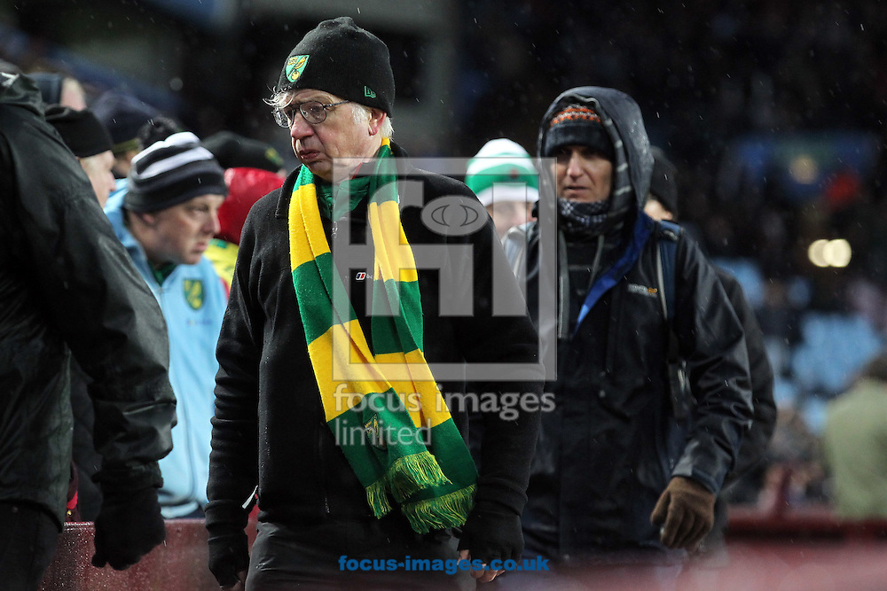 The traveling Norwich fans have seen enough and make for the exit long before the final whistle during the Barclays Premier League match at Villa Park, Birmingham<br /> Picture by Paul Chesterton/Focus Images Ltd +44 7904 640267<br /> 06/02/2016