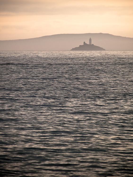Godrevy lighthouse at sunrise