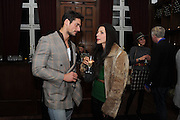 DAVID GANDY; NATALIA BARBIERI, London College of Fashion hosts party to celebrate the opening of Carmen: A Life in Fashion with guest of honour Carmen Dell'Orefice. Il Bottachio, Hyde Park Corner. London. 16 November 2011. <br /> <br />  , -DO NOT ARCHIVE-© Copyright Photograph by Dafydd Jones. 248 Clapham Rd. London SW9 0PZ. Tel 0207 820 0771. www.dafjones.com.