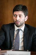 Potenza, Basilicata, Italia, 19/05/2016.<br /> Roberto Speranza, deputato del Partito Democratico<br /> <br /> Potenza, Basilicata, Italy, 19/05/2016<br /> The membero of Parliament, Roberto Speranza (Democratic Party)