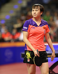 31.01.2016, Max Schmeling Halle, Berlin, GER, German Open 2016, im Bild Limei Hu (CHN) ist frustriert // during the table Tennis 2016 German Open at the Max Schmeling Halle in Berlin, Germany on 2016/01/31. EXPA Pictures © 2016, PhotoCredit: EXPA/ Eibner-Pressefoto/ Wuest<br /> <br /> *****ATTENTION - OUT of GER*****