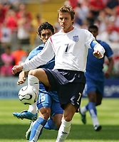 v.l. Cristian Riveros, David Beckham England<br />