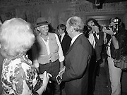 24/08/1984<br /> 08/24/1984<br /> 24 August 1984<br /> Opening of ROSC '84 at the Guinness Store House, Dublin. Maeve and President Patrick Hillery chat with artist Joseph Beuys at the exhibition opening. Joseph had a selection of his drawings at the exhibition that drew a favourable review from The Irish Arts Review.