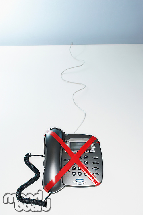 Red Tape on Voicemail Phone