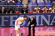 DESCRIZIONE : Milano Coppa Italia Final Eight 2013 Semifinale Cimberio Varese Acea Roma<br /> GIOCATORE : Coach Marco Calvani e Lorenzo D'Ercole<br /> CATEGORIA : Coach Fair Play Directory Commercial<br /> SQUADRA : Acea Roma<br /> EVENTO : Beko Coppa Italia Final Eight 2013<br /> GARA : Cimberio Varese Acea Roma<br /> DATA : 09/02/2013<br /> SPORT : Pallacanestro<br /> AUTORE : Agenzia Ciamillo-Castoria/A.Giberti<br /> Galleria : Lega Basket Final Eight Coppa Italia 2013<br /> Fotonotizia : Milano Coppa Italia Final Eight 2013 Semifinale Cimberio Varese Acea Roma<br /> Predefinita :