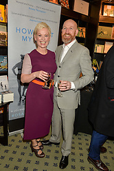 ROS POWELL and her husband GARY at a party to celebrate the publication of How I Met My Son by Ros Powell held at Hatchards, 187 Piccadilly, London on 11th February 2016.