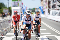 Clara Koppenburg (GER) makes her way to sign on at Emakumeen Bira 2018 - Stage 4, a 120 km road race starting and finishing in Durango, Spain on May 22, 2018. Photo by Sean Robinson/Velofocus.com