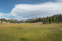 Mount Geikie from Fremont Trail near Dads Lake. Bridger Wilderness, Wind River Range  Wyoming