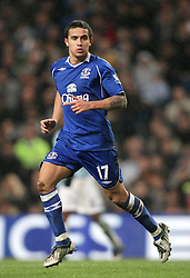 TIM CAHILL.EVERTON FC.MANCHESTER CITY V EVERTON.CITY OF MANCHESTER STADIUM, MANCHESTER, ENGLAND.13 December 2008.DIW89715..  .WARNING! This Photograph May Only Be Used For Newspaper And/Or Magazine Editorial Purposes..May Not Be Used For, Internet/Online Usage Nor For Publications Involving 1 player, 1 Club Or 1 Competition,.Without Written Authorisation From Football DataCo Ltd..For Any Queries, Please Contact Football DataCo Ltd on +44 (0) 207 864 9121